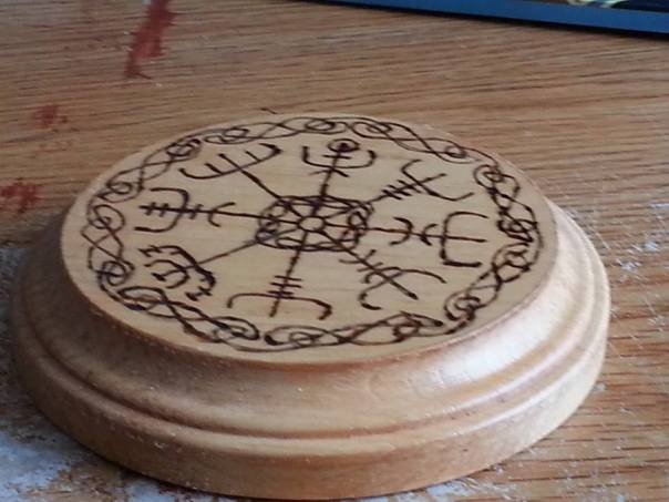 Wood Burned Altar Tile